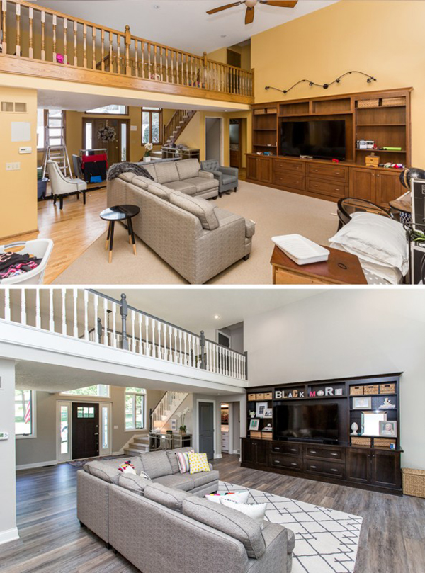 Oakstone Homes Before After Honey Oak Home Renovation